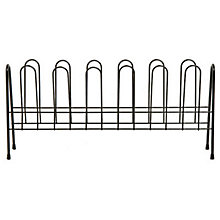 Buy John Lewis Black Shoe Rack, 6 Pair Online at johnlewis.com