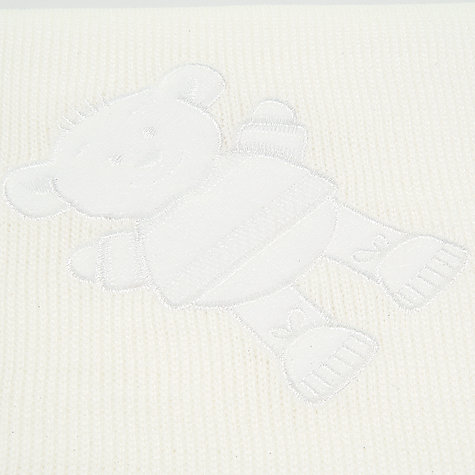 Buy Teddy Baby Shawl, Ecru Online at johnlewis.com