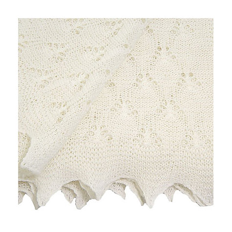 Buy John Lewis Butterfly Baby Shawl, Ecru Online at johnlewis.com