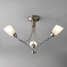 Buy John Lewis Maria Ceiling Light, 3 Arm, Brushed Chrome Online at johnlewis.com