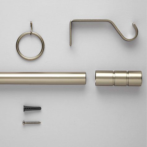 Buy John Lewis Satin Steel Curtain Pole Kits, Dia.19mm Online at johnlewis.com