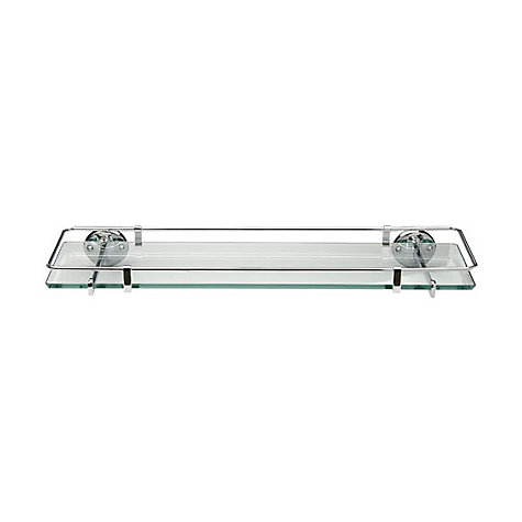 Buy Samuel Heath Curzon Glass Shelf with Guard Rail Online at johnlewis.com
