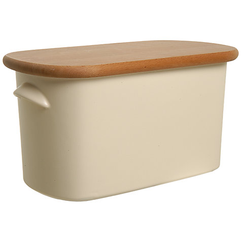 Buy Nigella Lawson Bread Bin Beech / Cream Online at johnlewis.com