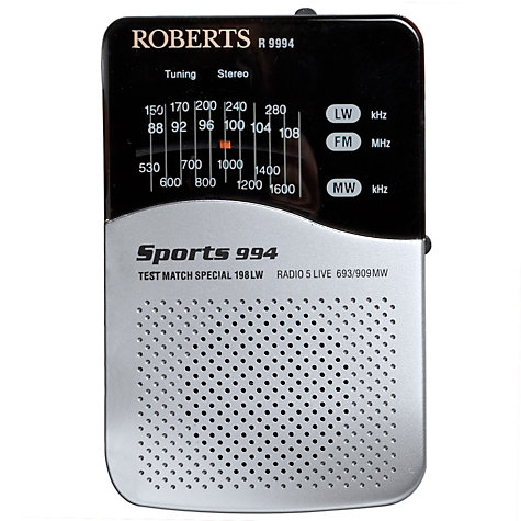 Buy ROBERTS Sports 994 Personal Radio Online at johnlewis.com