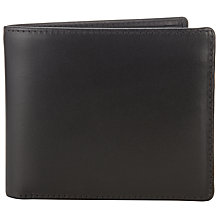 Buy Launer Made in England Premium Leather Bi-Fold Wallet, Black Online at johnlewis.com