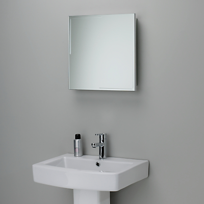 John Lewis Ice Single Mirrored Bathroom Cabinet