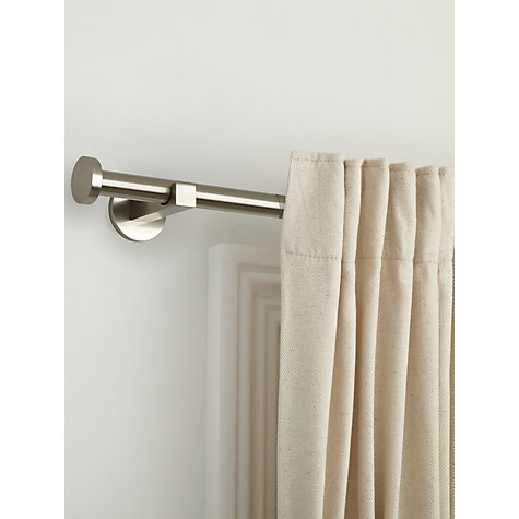 Buy John Lewis Nickel Plated Curtain Pole Kits, Dia.19mm Online at johnlewis.com