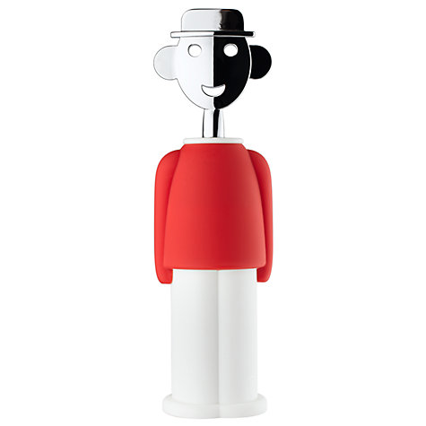 Buy Alessi Alessandro Corkscrew, Red Online at johnlewis.com