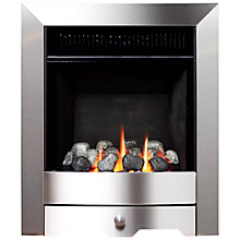Buy Burley Flueless Gas Fire, Environ 4247, Brushed Steel Online at johnlewis.com