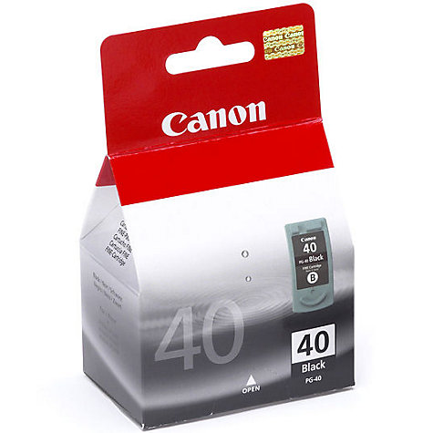 Buy Canon Pixma Inkjet Cartridge, Black, PG-40 Online at johnlewis.com