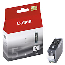 Buy Canon Pixma Inkjet Cartridge, Black, PGI-5BK Online at johnlewis.com