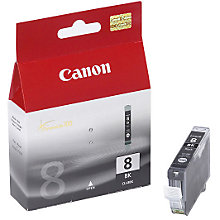 Buy Canon PIXMA CLI-8BK Inkjet Cartridge, Black Online at johnlewis.com