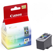 Buy Canon Pixma Inkjet Cartridge, Colour, CL-41 Online at johnlewis.com