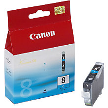 Buy Canon Pixma Inkjet Cartridge, Cyan, CLI-8C Online at johnlewis.com