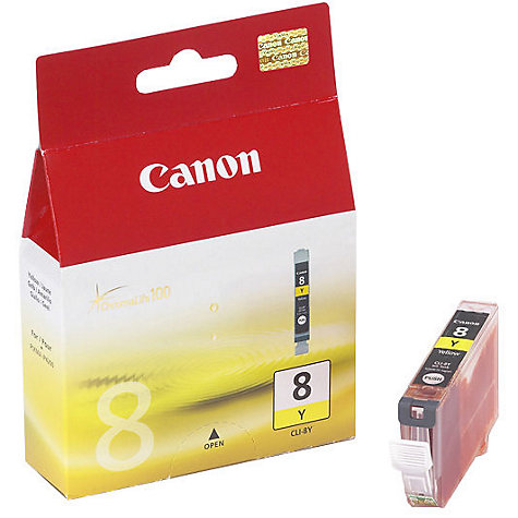 Buy Canon Pixma Inkjet Cartridge, Yellow, CLI-8Y Online at johnlewis.com