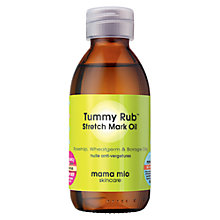 Buy Mama Mio Tummy Rub Stretch Mark Oil, 120ml Online at johnlewis.com