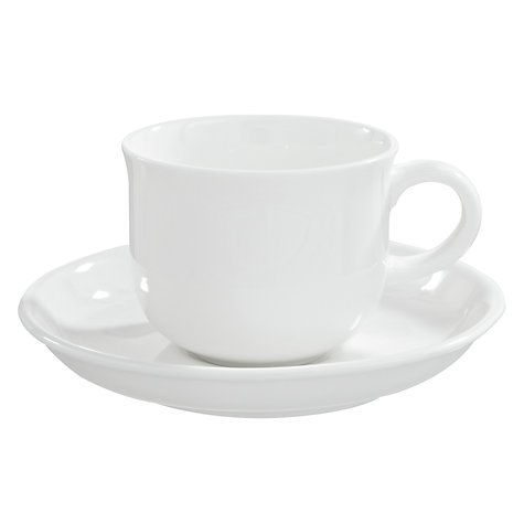 Buy Queensberry Hunt for John Lewis White Coffee Cups and Saucers, Set of 4, White Online at johnlewis.com