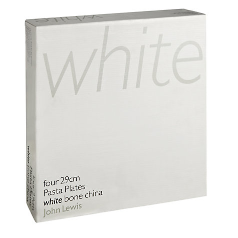 Buy Queensberry Hunt for John Lewis White Pasta Plates, Dia.29cm, Set of 4 Online at johnlewis.com