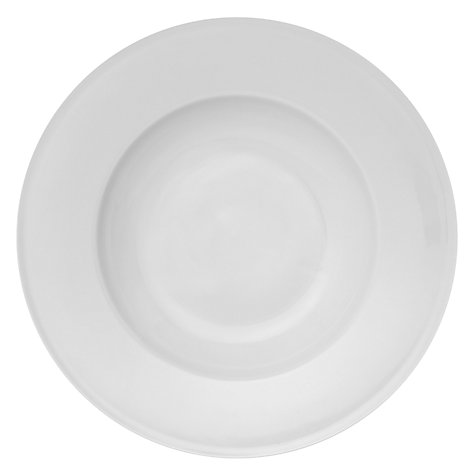 Buy Queensberry Hunt for John Lewis White Rimmed Soup Plate, Dia.29cm Online at johnlewis.com