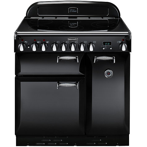 Buy Rangemaster Elan 90 Electric Range Cooker, Black Online at johnlewis.com