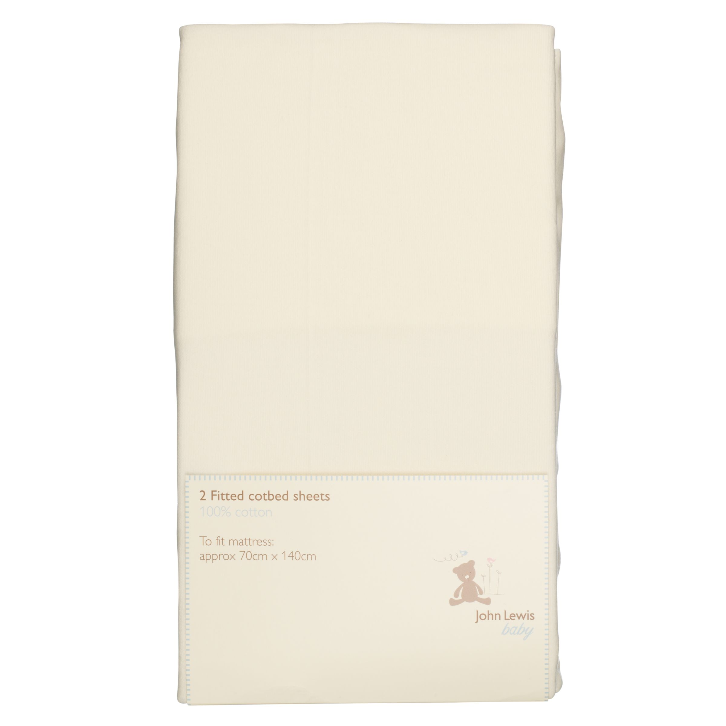 Baby Fitted Cotbed Sheets, 70 x