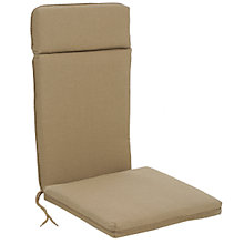 Buy Barlow Tyrie High-Back Garden Chair Cushion, Pepper Online at johnlewis.com