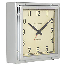 Buy Newgate Mini Quad Clock, Chrome Online at johnlewis.com