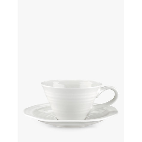 Buy Sophie Conran for Portmeirion Tea Cup and Saucer, White Online at johnlewis.com