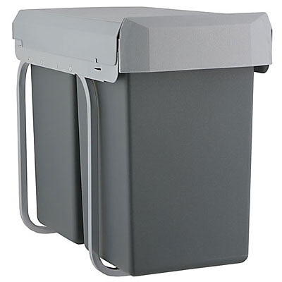 Kes Tandem Kitchen Recycling Bin, 2x 15L
