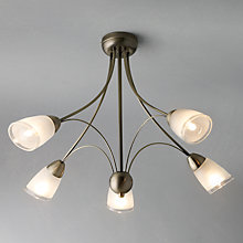 Buy John Lewis Mizar Ceiling Light, 5 Arm, Antiqued Brass Online at johnlewis.com