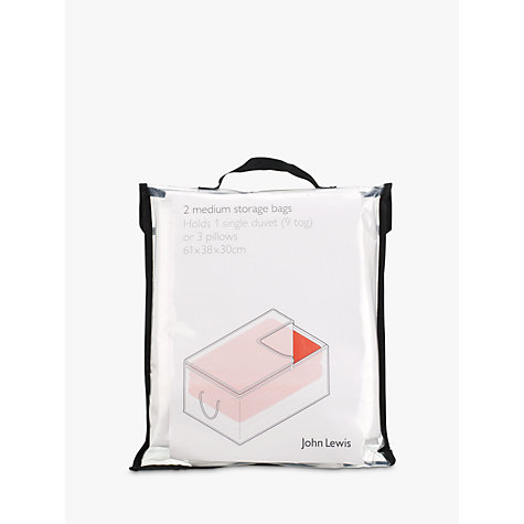 Buy John Lewis Transparent Oblong Bag, Set of 2 Online at johnlewis.com
