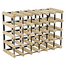 Buy RTA Winestak 30 Bottle Wine Rack, Pine and Black Steel Online at johnlewis.com