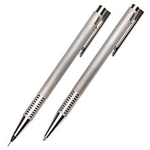 Buy Lamy Logo Pen Set, Brushed Stainless Steel Online at johnlewis.com