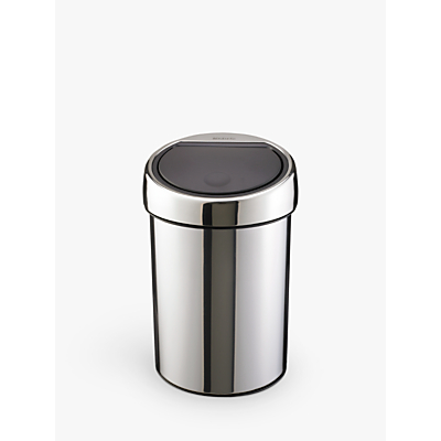 Brabantia Touch Bin, Brilliant Steel, 3L