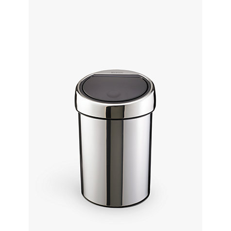 buy brabantia touch bin brilliant steel 3l john lewis. Black Bedroom Furniture Sets. Home Design Ideas