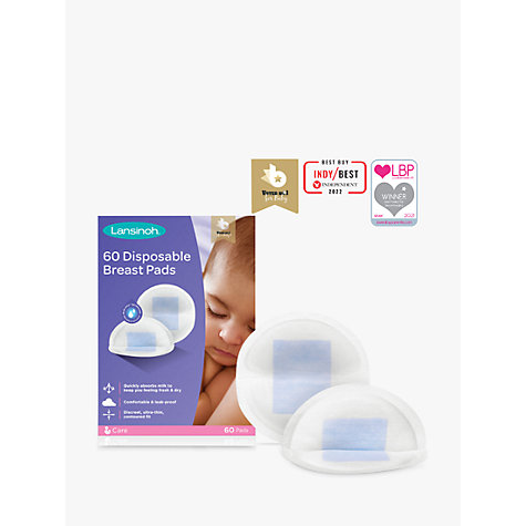 Buy Lansinoh Disposable Breast Pads, Pack of 60 Online at johnlewis.com