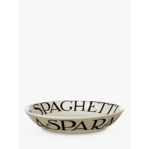 Buy Emma Bridgewater Black Toast Pasta Bowl, Natural, Dia.23.5cm Online at johnlewis.com