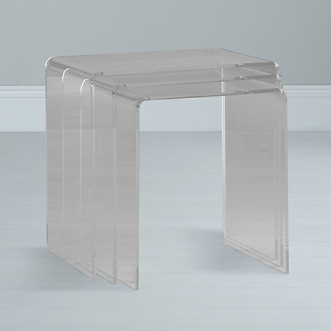 Buy John Lewis Ice Nest of Tables, Clear, Set of 3 Online at johnlewis.com