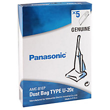 Buy Panasonic U20e Upright Vacuum Cleaner Bags, Pack of 5 Online at johnlewis.com