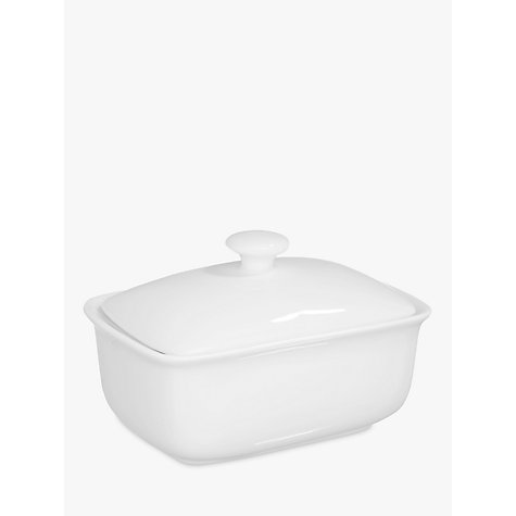 Buy John Lewis Cupola Bone China Butter Dish, White Online at johnlewis.com