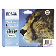 Buy Epson T0715 Cheetah Inkjet Cartridge Multipack Online at johnlewis.com