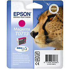 Buy Epson T0713 Cheetah Inkjet Printer Cartridge, Magenta Online at johnlewis.com