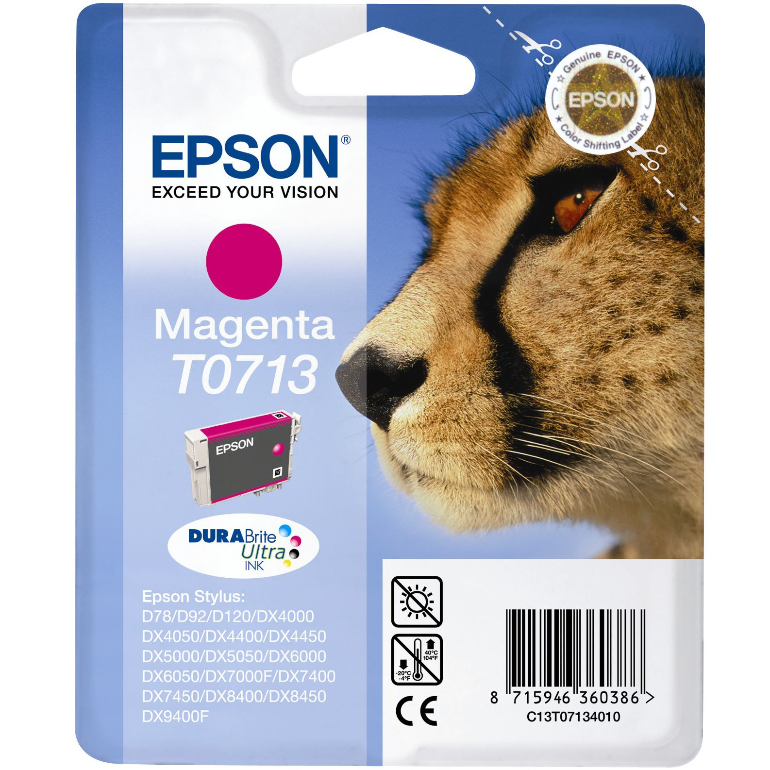T0713 Inkjet Printer Cartridge, Magenta