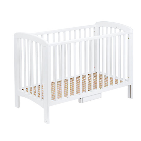 Buy John Lewis Anna Drop-Side Cot, White Online at johnlewis.com