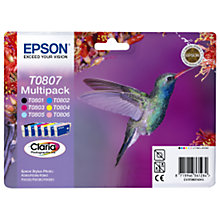 Buy Epson T0807 Hummingbird Inkjet Cartridge Multipack Online at johnlewis.com