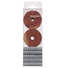Buy John Lewis Cedarwood Rings, Pack of 4 Online at johnlewis.com