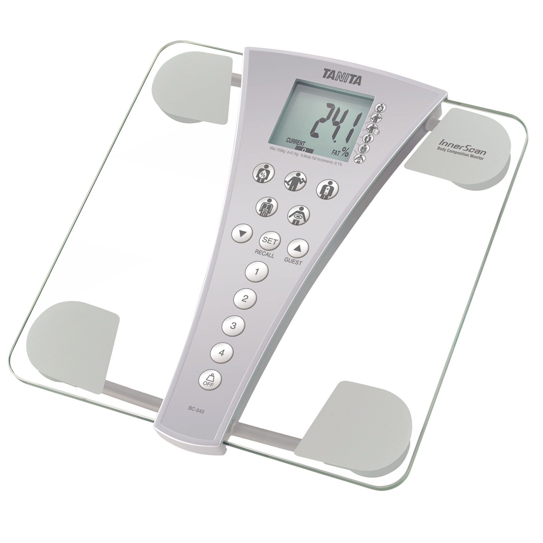 Tanita Tanita BC-543 Family Health Innerscan Body Composition Monitor, Clear