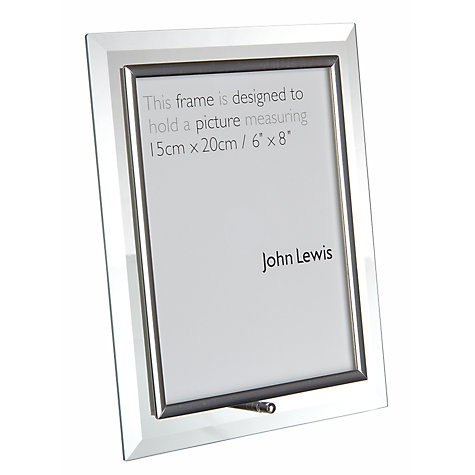 "Buy Flat Glass Photo Frame, Portrait, 8 x 6"" (20 x 15cm) Online at johnlewis.com"