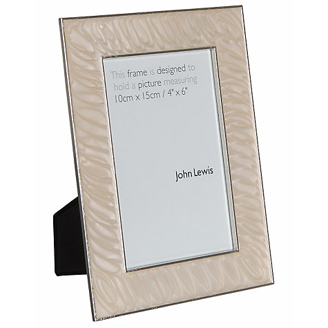 Buy John Lewis Amy Enamel Photo Frames, Cream Online at johnlewis.com