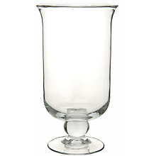 Buy John Lewis Glass Hurricane Lamp, 35cm Online at johnlewis.com